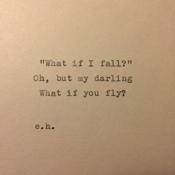 Erin Hanson Hand Typed Quote On Vinatge Typewriter – S