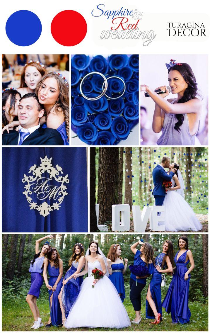 Sapphire&Red wedding Сапфирово-красная свадьба Синяя свадьба Бутылки на свадьбу Ободочки для подружек невесты Hairbands for bridesmaids Blue wedding Turagina Decor Турагина декор