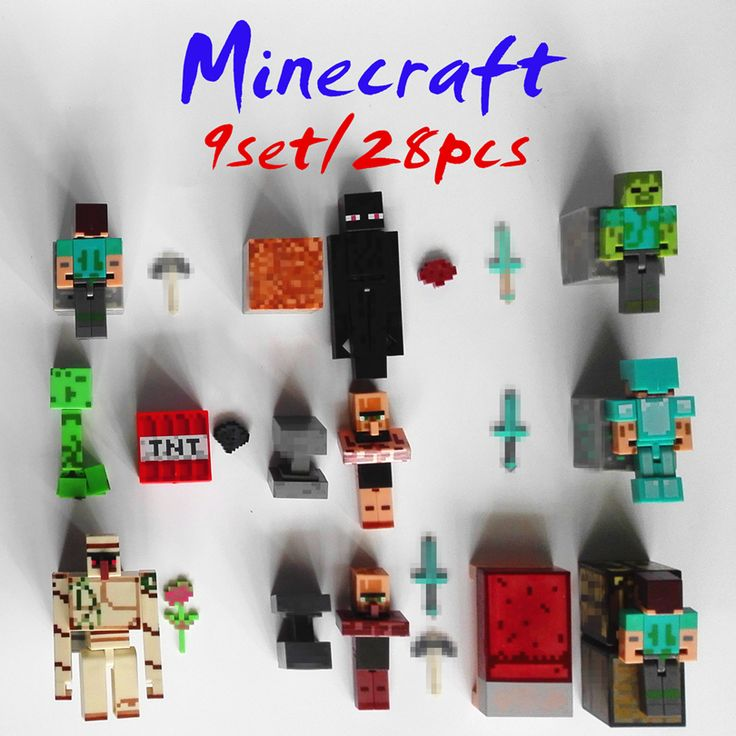 28pcs/9set minecraft toys PVC action figures armor sword stone model block minifigures toy collectible Gift for children kids - free shipping worldwide