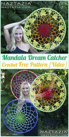 Crochet Mandala Dream Catcher Free Patterns - Crochet Dream Catcher Free Patterns