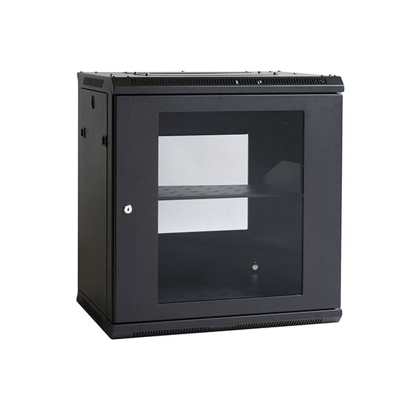 Wall Mount Swing Frame Cabinet 12RU 600mm.    The 19″ Wall Mount Rack range provides effortless installation of both the cabinet and your valuable equipment without compromising cabinet strength or security. We also offer a wide range of rack and enclosure accessories allowing you to customise your system to suit your data requirements. This accessory range has been designed for maximum flexibility without compromising the security of your valuable equipment or the strength of the enclosure.
