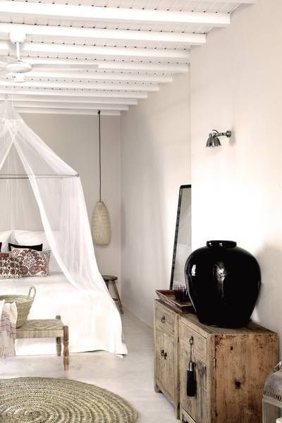 San Giorgio Mykonos, Greece: Luxury Bohemian Stylish Boutique Hotel with whitewashed buildings, slow food and chic decor. #design #fun #hotels #honeymoon #europe #swimmingpool #boho #chic #interiors #adultonly #luxury #wanderlust #travel #inspiration #holidays #vacations  #2017 #rustic