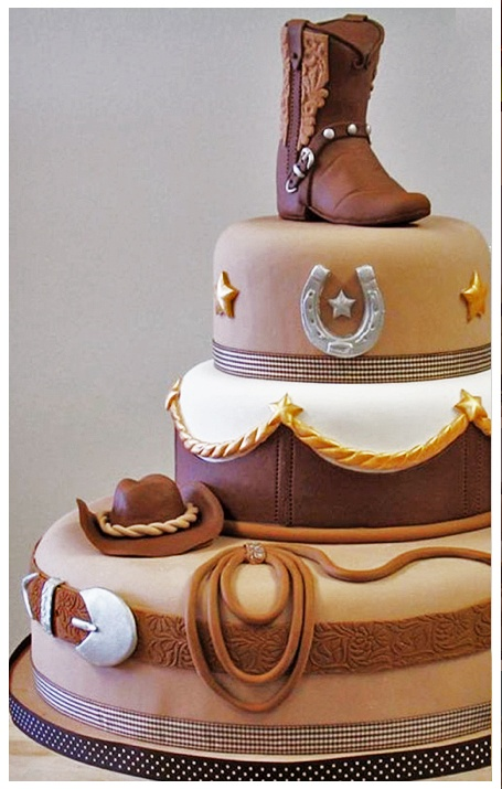 Perfect cake for my father-in-law!  Retired horseman & retired policeman.