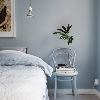 Déco Salon bleu gris couleur de l'année 2017 Dulux Valentine