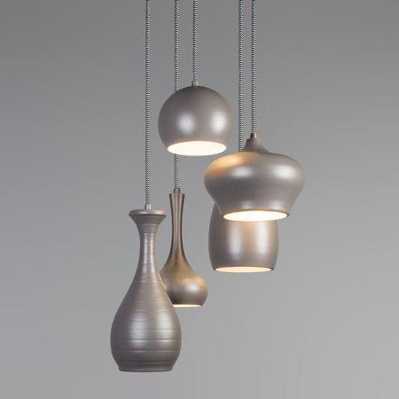 Lampa wisząca Drops 5 szara