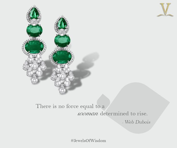 These enchanting emerald danglers for the resolute and unwavering you. #JewelsOfWisdom.