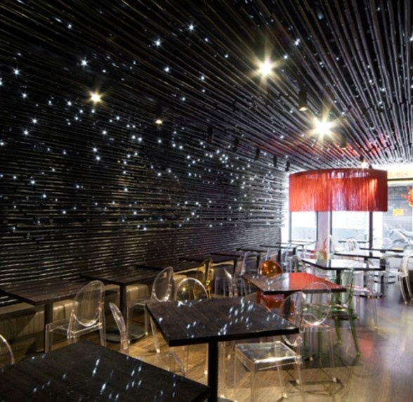 cool bar lighting. love the star look new concept modern restaurant decor with bar by elenberg fraser wine and dine in the stars very cool lighting