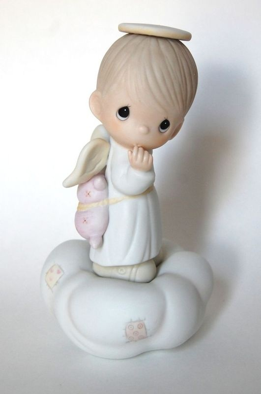 Precious Moments baby boy angel | Loss of a baby or child ...