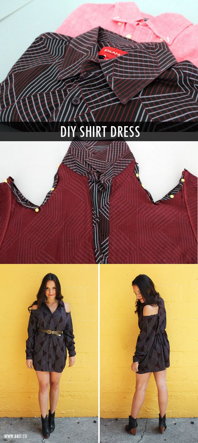 DIY shirt dress tutorial Lenore!!!! Please make me one.  I have some of zac's shirts you can use.  Hehehe