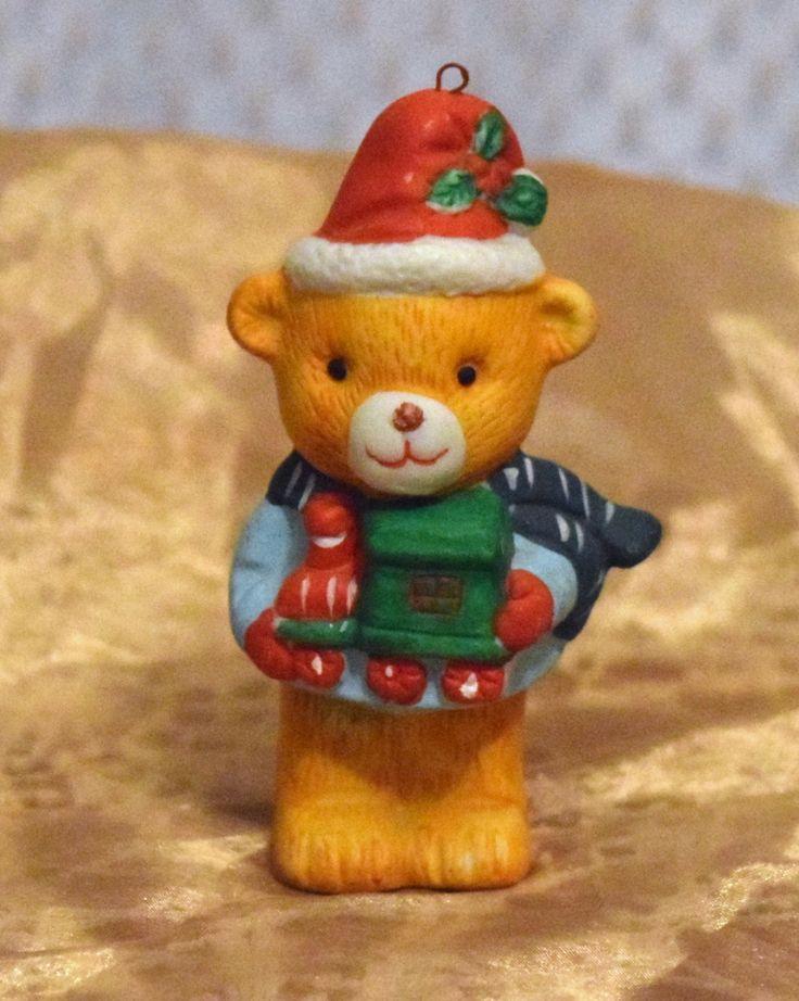 Vintage Christmas Ornament Porcelain Bear by hellonikita ...