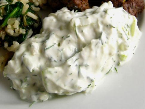 Alton Brown's Tzatziki Sauce Recipe.  Made this tonight, very good!! (2,244) put on leftover lamb for gyros