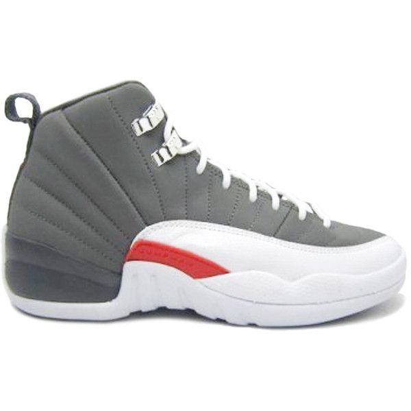 Air Jordan XII (12) Retro Cool Grey 2012 ($300) ❤ liked on Polyvore featuring shoes, sneakers, jordans, gray shoes, retro inspired shoes, retro shoes, retro style shoes and grey shoes