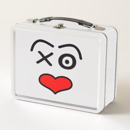 Funny love  face metal lunch box - Xmas ChristmasEve Christmas Eve Christmas merry xmas family kids gifts holidays Santa