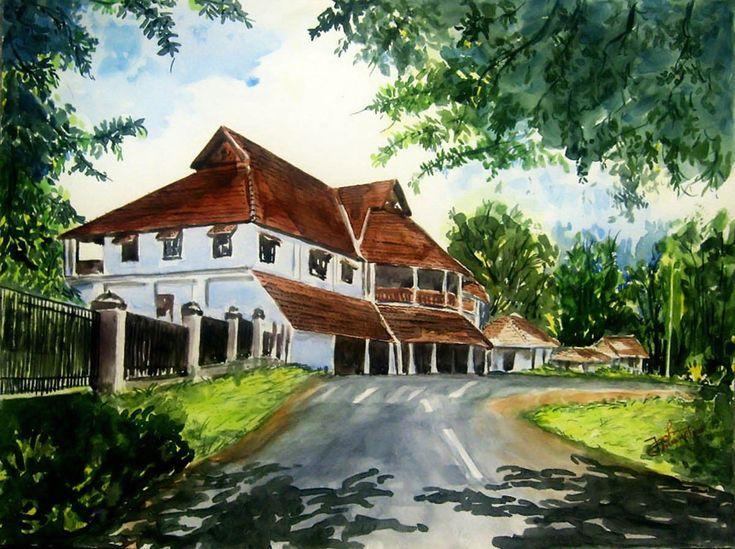 Erstwhile  British Residency in Kerala, Kollam. ( Old Kerala Architecture )