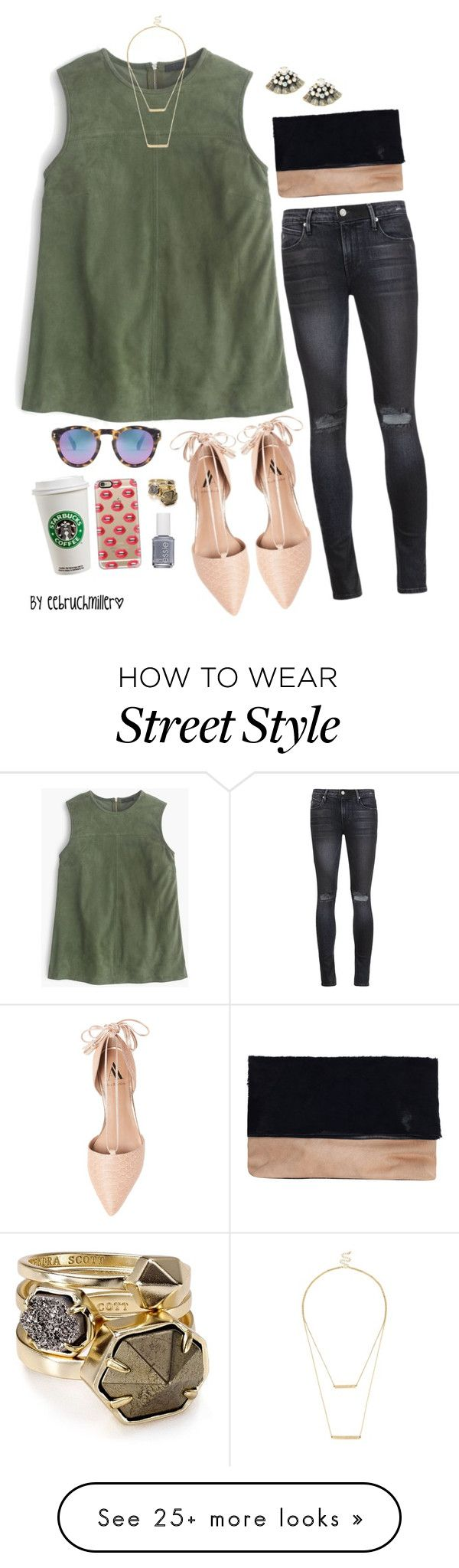 """Street Style ft. Flats"" by eebruchmiller on Polyvore featuring RtA, J.Crew, Ava & Aiden, Casetify, Sole Society, Kendra Scott, Illesteva, Essie, women's clothing and women's fashion"