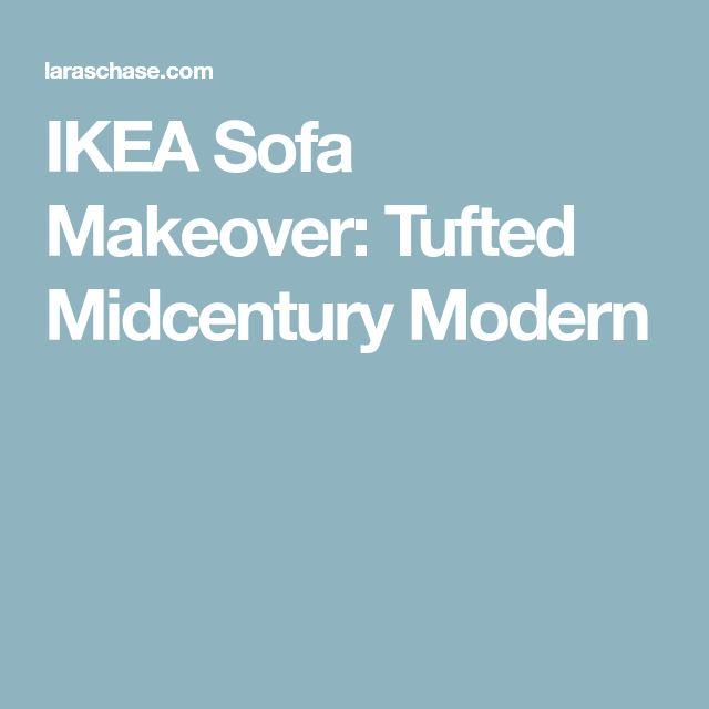 IKEA Sofa Makeover: Tufted Midcentury Modern