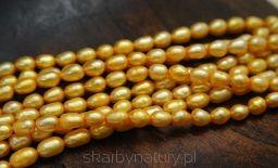 Perła Żółta - oliwka 6 mm / 5 mm [1 sznur - 60 pereł] - Skarby Natury - rozwiń swoją pasję