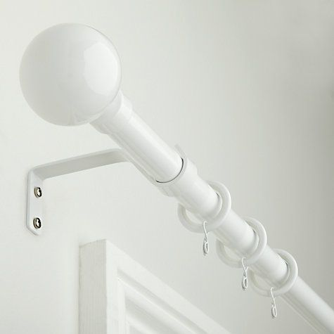 Buy little home at John Lewis Extendable Curtain Pole Kits, Dia.16/19mm, White Online at johnlewis.com