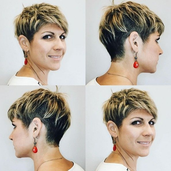 belle-courte-coupe de cheveux-idées-pour-femmes-épaisse-coiffures-de-court-cheveux-2017