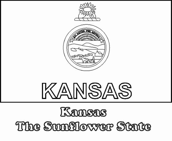 Kansas State Flag Coloring Page Inspirational Kansas The Sunflower State Flag Coloring Page Flag Coloring Pages Kansas State Flag State Flags