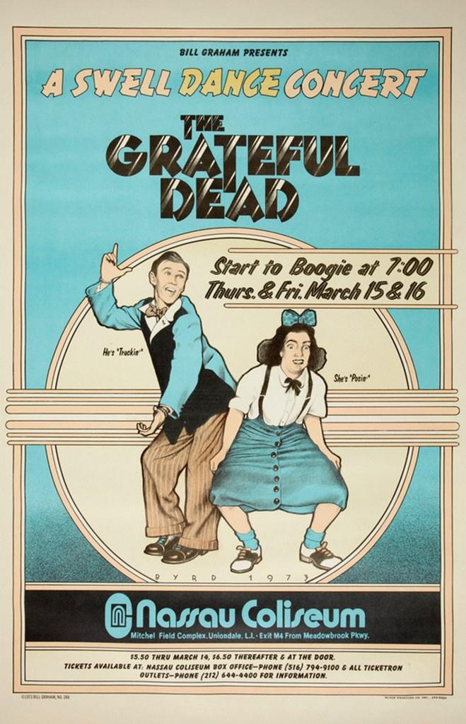 1973 Grateful Dead Concert at the Nassau Coliseum Poster.