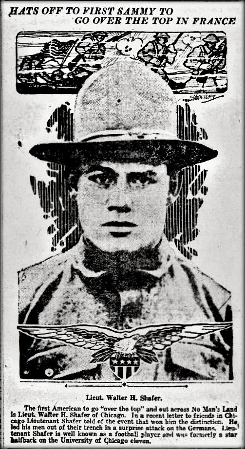"WWI, 10 Feb 1918:""The 1st American to go over the top and out across No Man's Land"" - The Arizona Republican, Phoenix"