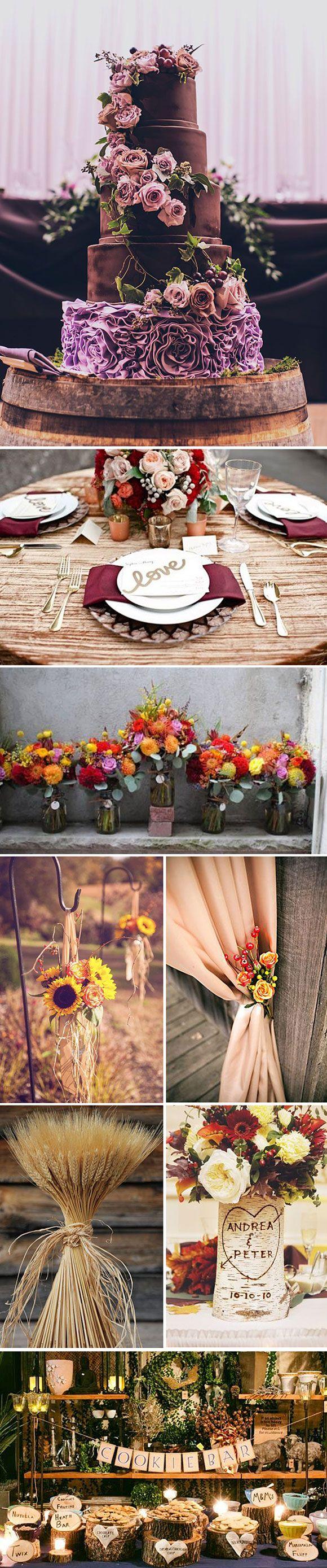 Decoración de bodas y eventos en Otoño