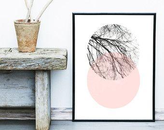 Skandinavische Kunst Baum drucken, abstrakt Kunstdruck, Baum-Poster, Giclée-Druck, Wall Art, Nordisches Design, abstrakte Kunst Kunst Giclée-Druck.