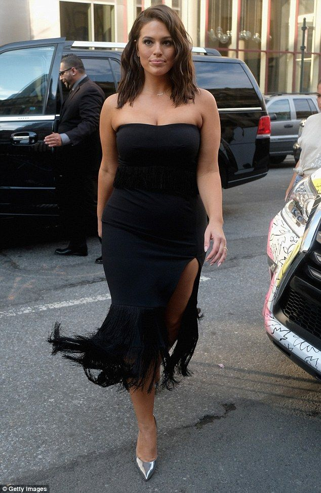 Double trouble! Ashley Graham, 28, put on a show-stopping display twice in one day on Saturday, as she headed to back-to-back NYFW events in two sexy black dresses