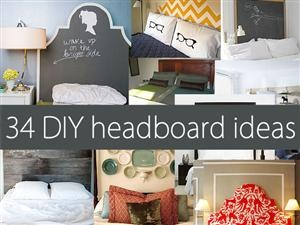 34 DIY headboard ideas & a ba-zillion other home decor ideas! homedit.com