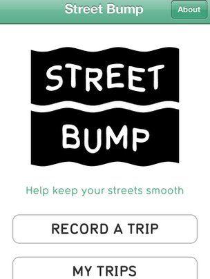 Screenshot of Street Bump app