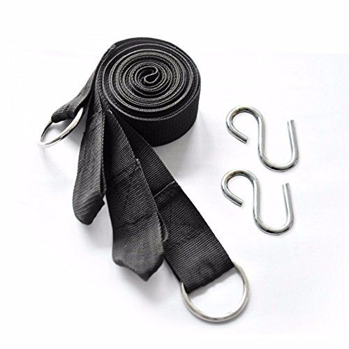 300x4cm Hanging Straps Rope Super Strong Belt Hammock Tree Straps With 2pcs Stainless Steel Hooks