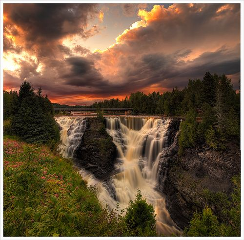 Kakabeka Falls, Thunder Bay, Ontario...my Nana raved about these Falls after her visit there, you would have thought they were the most incredible falls in the world the way she went on about them...still makes me laugh to think about it...