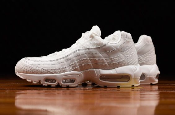 This Triple White Nike Air Max 95 Comes With Snakeskin