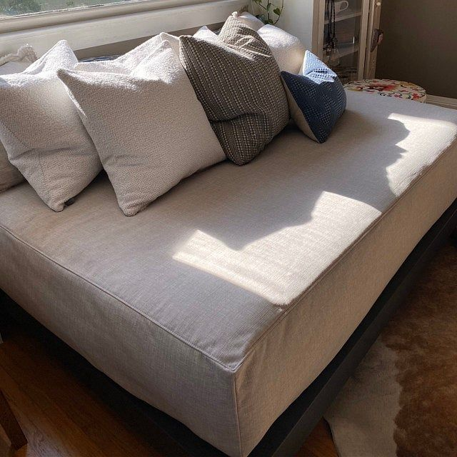 Daybed Slipcover Twin Or Full Mattress Cover Fitted Daybed Cover Over Sized Seat Cushion In 2020 Daybed Covers Mattress Covers Daybed Mattress