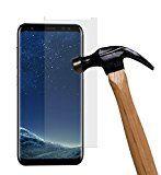 yayago Panzerglas 0 26 MM Displayschutzfolie für Samsung Galaxy S8 Glasfolie Hartglas 9H (bewusst kleiner als das Display da dieses gewölbt ist)