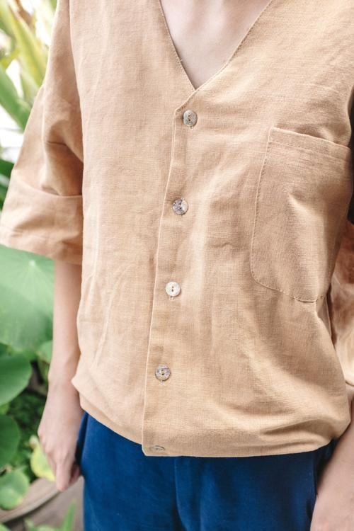 Seeker x Retriever Sustainable Handmade Fashion Tops Yukio Top: Dusk