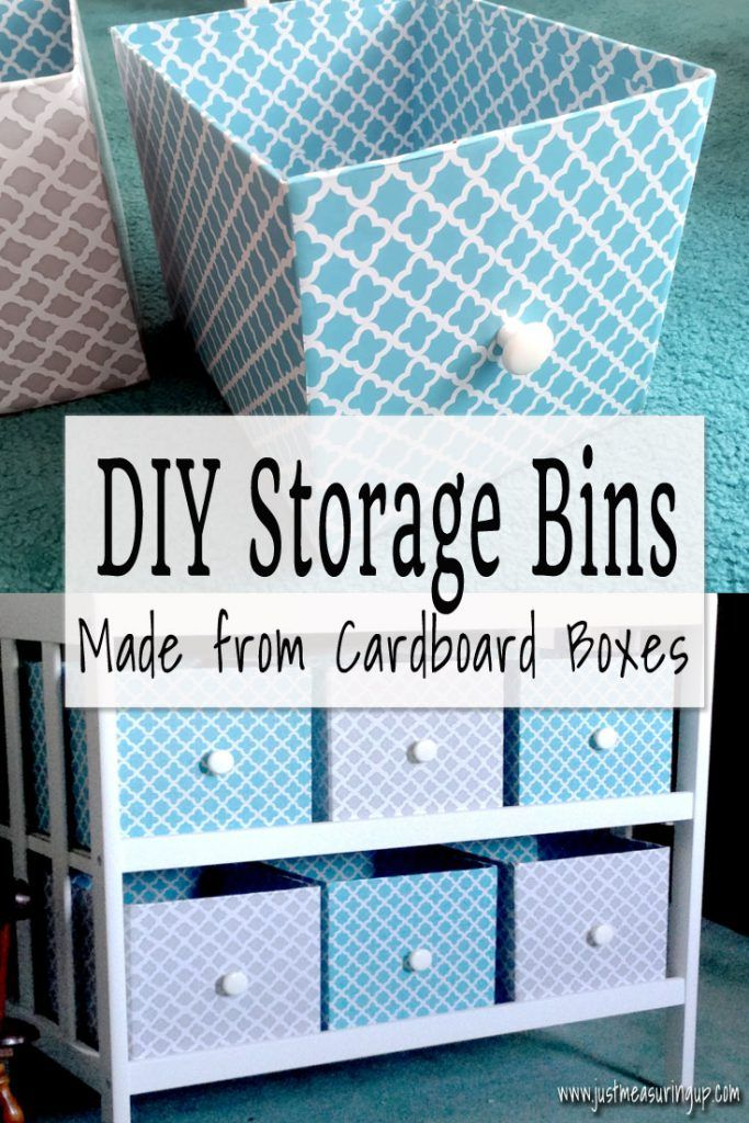 How to Make Storage Bins from Cardboard