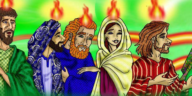Clic en la imagen y sigue la reflexión del Evangelio de este Domingo  LECTIO DIVINA DOMINICAL DE PENTECOSTÉS CICLO A  «Como el Padre me envió, así yo los envío a ustedes»  PRIMERA LECTURA: Hechos 2, 1-11 SALMO RESPONSORIAL: Salmo 103 SEGUNDA LECTURA: 1 Corintios12, 3b-7. 12-13  TEXTO BÍBLICO: Juan 20, 19-23 20,19: Al atardecer de aquel día, el primero de la semana, estaban los discípulos con las puertas bien cerradas, por miedo a los judíos. Llegó Jesús, se colocó en medio y les dice: