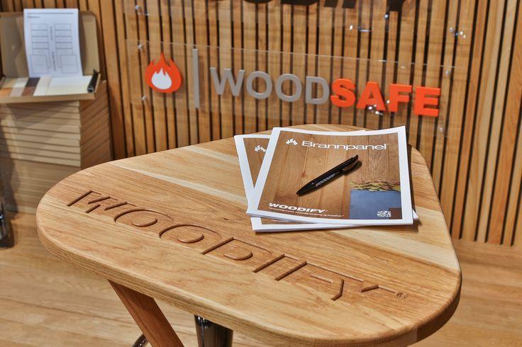 Exhibition stand, Woodify, Bygg Reis Deg 2013. Solid wood, oak, fire retardant treated wood, Brannpanel. bespoke stand tables, oak, ash.