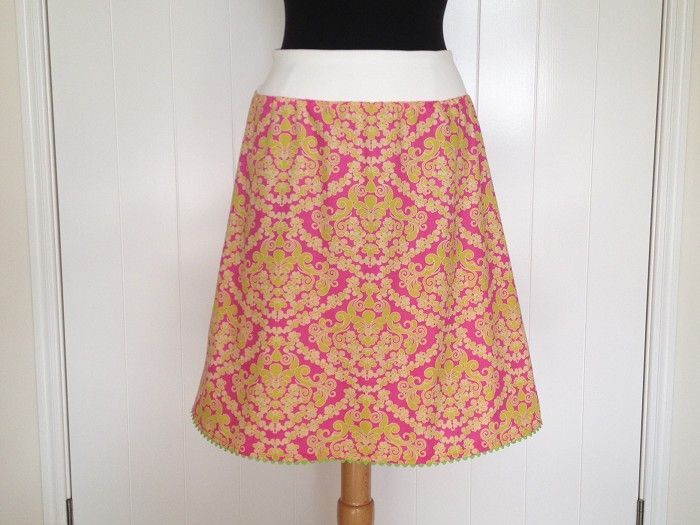Spring 'Dreaming in French' A-line skirt (made for you) Aline Skirt Women's | AnnieGeorgina | madeit.com.au
