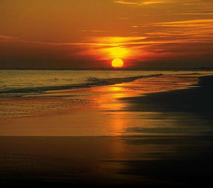 Un sensazionale tramonto scende su Bibione