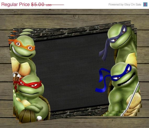 Blank Unfilled TMNT turtle create your own by PYOpartyinvites