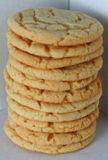 chewy sugar cookies - full batch made 75 cookies, took 15 mins to cook on top shelf of small oven