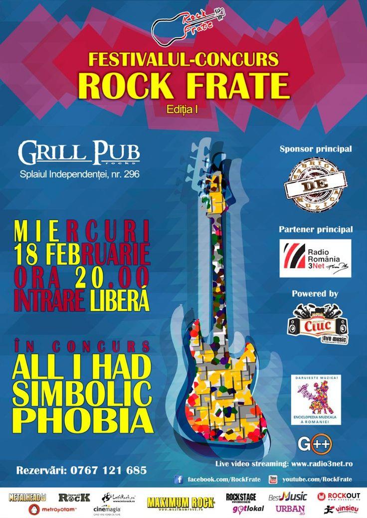 O nouă seară Rock Frate cu Phobia, Simbolic și All I Had - Miercuri, 18 februarie https://www.facebook.com/rockfrate