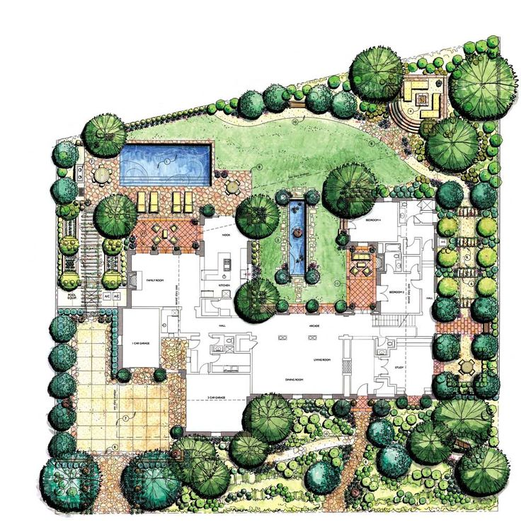 8 best landscape design plans images on pinterest for Best home garden design