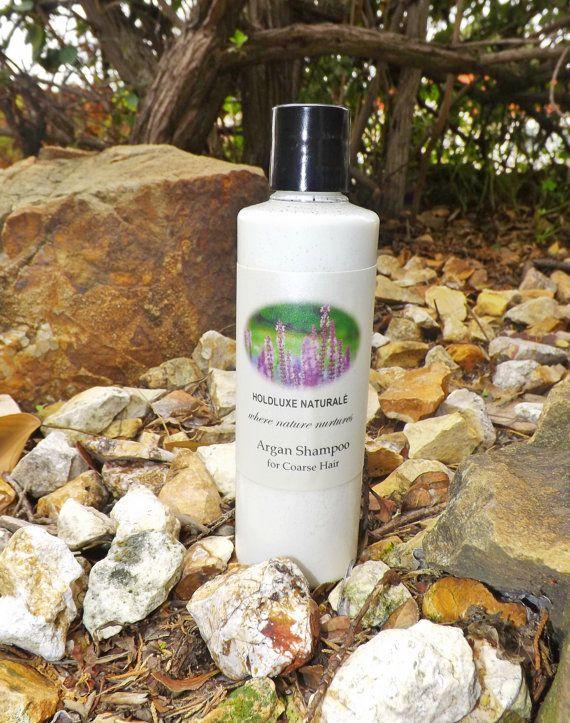 Argan Shampoo for Thick or Dry Hair – Small Batch Handmade- Natural Hair Shampoo  – Handmade Moisturizing Shampoo  –