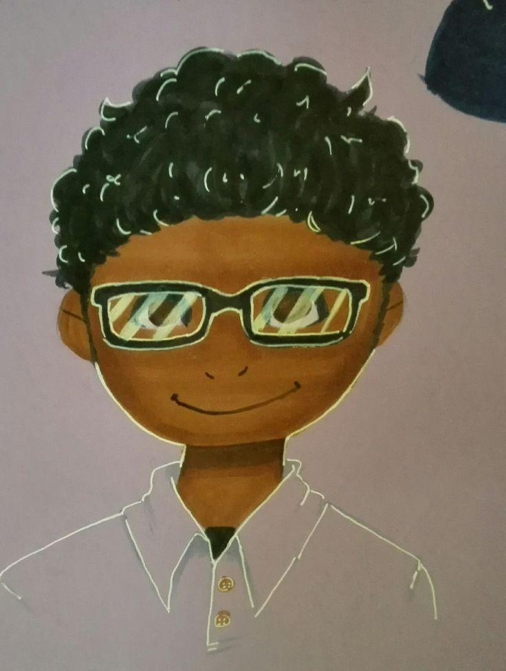 Un maravilloso trabajo de nuestros alumnos los cuales ellos se dibujaron y crearon su propia caricatura. #americasbicultural
