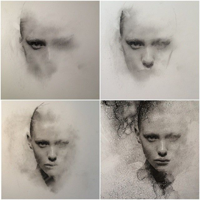 Instagram media by caseybaugh - Charcoal progression ➰ #art #charcoal #caseybaugh