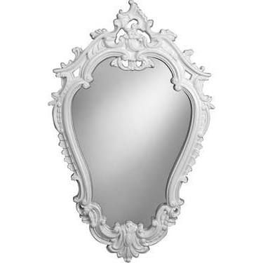 Style Craft Victorian Wall Mirror Finish: White